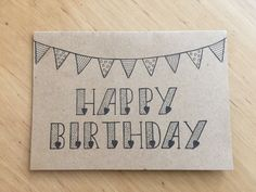 Happy birthday, gemalt und Kalligrafie Happy birthday, painted and calligraphy Happy birthday, gemalt und Kalligrafie Birthday Card Template, Birthday Cards For Mom, Homemade Birthday Cards, Birthday Letters, Bday Cards, Friend Birthday Gifts, Diy Birthday, Homemade Cards, Happy Birthday Mom Cards