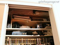 Find Hidden Storage in Your Home: Tips for Maximizing Your Space I girlinthegarage.net: If you have a small closet, consider installing additional shelves above or below for more storage space.