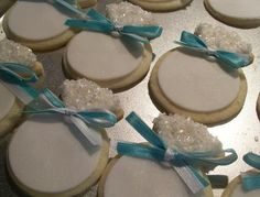 Tiffany Ring Wedding Cookies- sugar cookie with Fondant