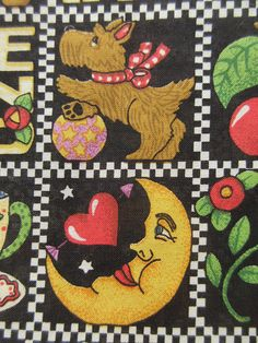 Vintage Chester the Clown novelty fabric panel