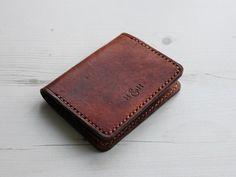 Slim Folding Leather Card Wallet - Hide & Home - 1