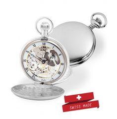 Sterling Silver Skeleton Pocket Watchfor the discerning gentleman on Valentine's DAy