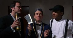 Four rooms (1995)  Ted the Bellhop: Well, most recently, there's room 309, there's this scary Mexican gangster dude poking his finger in my chest. There's his hooligan kids snapping their fingers at me. There's a putrid, rotting corpse of a dead whore stuck in the springs of the bed. There's rooms blazing afire. There's a big fat needle from God knows where, stuck in my leg, infecting me with God knows what. And finally there's me, walking out the door, right fucking now. Buenas noches.