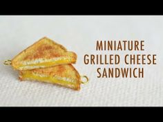 GRILLED CHEESE: polymer clay tutorial - YouTube. Very realistic - get rid of hooks :-(