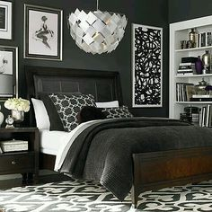 Monochrome inspired bedroom