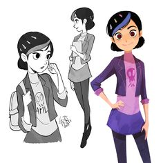 Trollhunters Claire Character Design Sheet