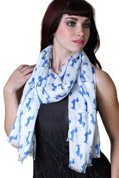 Women's Bella Dachshund Doggie Fashion Scarf (Emerald Green/ Ivory) at Amazon Women's Clothing store:Fashion Scarves, red scarf, doxie scarf, dog print, animal print, dachshund scarves, shawls, wraps, cute, pretty, unique scarves, holiday scarf, holiday gifts for women, affordable, easy to wear, versatile shawls, designer scarves, stylish, modern, trendy, dog lovers, animal lovers, blue doxie scarf