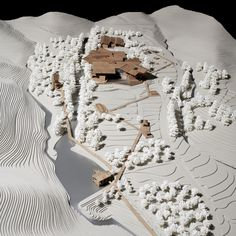 """Winning Entry for New Pottery Museum in South Korea aka """"Jesus Christ, pree contours nuh"""". Landscape Architecture Model, Architecture Model Making, Landscape Model, Landscape Design, Architecture Design, Architecture Diagrams, Architecture Board, Architecture Portfolio, School Architecture"""