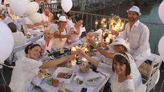 Diner en Blanc München 2016 @ Isar Wehrsteg - Praterinsel - Impressionen