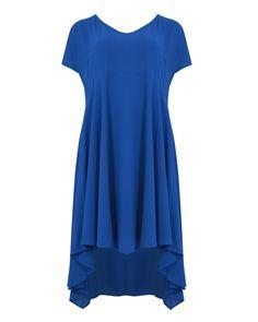 Φόρεμα κρεπ V — mat. XXL sizes — Γυναικεία Ρούχα, Μεγάλα Μεγέθη Short Sleeve Dresses, Dresses With Sleeves, Fashion, Moda, Sleeve Dresses, Fashion Styles, Gowns With Sleeves, Fashion Illustrations