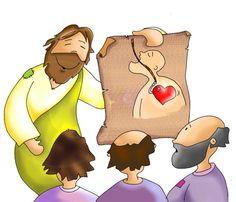 Os haré pescadores de hombres! Bible Art, Bible Scriptures, Jesus Cartoon, Velasco, My Jesus, Bowser, Christianity, Disney Characters, Fictional Characters