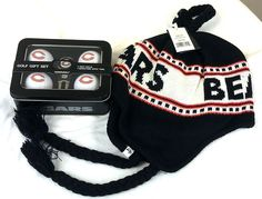Chicago Bears Golf Balls & Hat Gift Set NEW/NWT NFL **$58 Retail Value** #47Brand #ChicagoBears