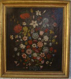Bouquet De Fleurs Sur Un Entablement Ecole Française Fin 18è Empire