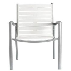 Tropitone South Beach EZ Span Stacking Dining Arm Chair Finish: Moab, Fabric: Driftwood