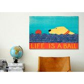 Found it at Joss & Main - Life is a Ball Canvas Print