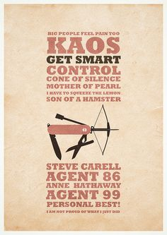Get Smart - Minimalist poster by H. Svanegaard, via Flickr