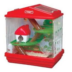 Find hamster cage and critter trail from a vast selection of Small Animal Supplies. Dwarf Hamster Cages, Cool Hamster Cages, Dwarf Hamsters, Hamster Care, Hamster Toys, Hamster Stuff, Hamster Ideas, Hamster Habitat, Hamster Supplies