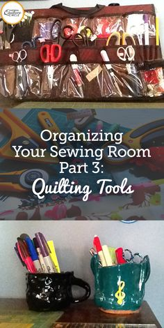 """I have more rulers and scissors than any one woman should own – and even worse – could possibly use at a given time. But as I always tell my husband, """"Does a woodworker or auto mechanic only have one tool box?"""" So the magical question of the day is, what is the most efficient way to organize them?"""