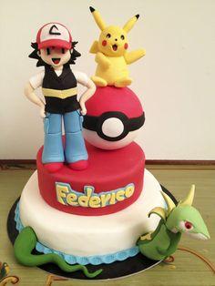 Pokemon cake for my child - cake by danida Pokemon Birthday Cake, 9th Birthday Cake, Pokemon Party, 6th Birthday Parties, Pokemon Cakes, Fruit Cake Watermelon, Baby Boy Birthday Themes, Pikachu Cake, Character Cakes