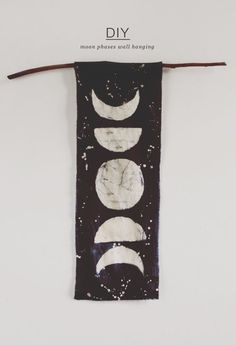 DIY Moon Phases Wall Hanging via Everything Golden Blog