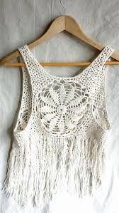 Resultado de imagen para crochet mandala fringe vest pattern