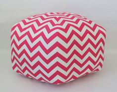 in green Ottoman Pouf Floor Pillow Candy Hot Pink White Zig Zag Chevron Locker Lookz, Pink Blue, Pink White, Pouf Ottoman, Best Interior Design, Coloring For Kids, Cute Pink, Floor Pillows, New Product