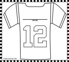 Football jersey pattern. Use the printable outline for crafts ...