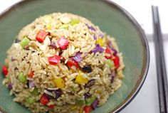 vegetarian fried rice--gotta try Vegetarian Fried Rice, Vegetable Fried Rice, Vegetarian Cooking, Vegetarian Recipes, Healthy Recipes, Whole Food Diet, Whole Food Recipes, Rice Recipes, Meals Without Meat
