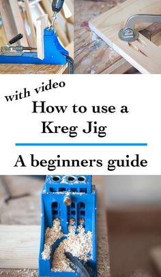 The most complete guide for using Kreg Jig - with a video tutorial. How to use a Kreg Jig. Great woodworking tips and tricks for beginner. diy for beginners plans tips tools Woodworking Jig Plans, Easy Woodworking Projects, Popular Woodworking, Woodworking Furniture, Diy Wood Projects, Woodworking Shop, Woodworking Beginner, Woodworking Jigsaw, Woodworking Quotes