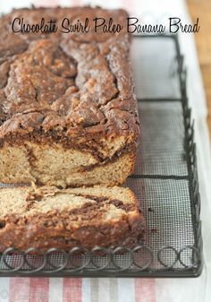 Chocolate Swirl Paleo Banana Bread (Grain-Free) via DeliciouslyOrganic.net