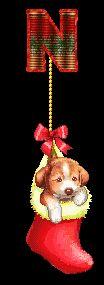 Alfabeto navideño perrito en calcetín. | Oh my Alfabetos!