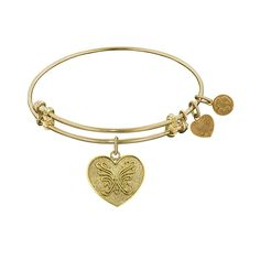 Angelica Collection Heart Bangle Bracelet