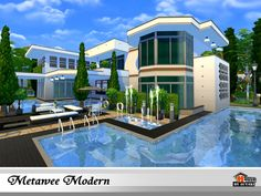 Sims 4 Updates: TSR - Houses and Lots, Residential Lots : Metawee Modern house by autaki, Custom Content Download!