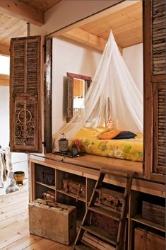 Boho Chic Interior Design - Bohemian Bedroom Design - Josh and Derek My New Room, My Room, Spare Room, Spare Bed, Alcove Bed, Sweet Home, Interior And Exterior, Interior Design, Bohemian Interior