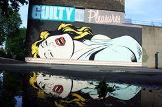 Artist : D*Face. Place : London, UK. Tags : street Art, graffiti, urban culture.
