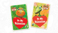 Be Our Valentine! — Jim Henson's Family Hub Dinosaur Train, Sweet Messages, Jim Henson, Be My Valentine, Creations, Bubbles, Dots, Cards, Printables