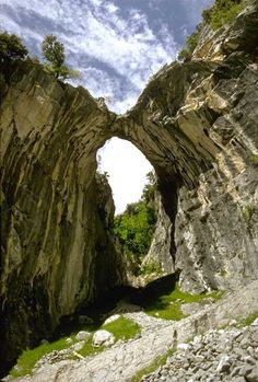 Natural Arch at the Picos de Europa. Asturias