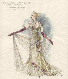 A Streetcar Named Desire, Blanche Dubois. Sketchbook of Jess Goldstein, winner of the 2015 TDF Irene Sharaff Lifetime Achievement Award For Costume Design, The 2015 TDF/Irene Sharaff Awards will be presented on Friday, May 1, at the Hudson Theatre in New York City. http://livedesignonline.com/theatre/sketchbook-costume-designer-jess-goldstein#slide-0-field_images-119051
