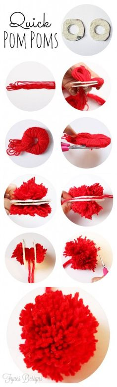 Make a pom pom like the pros with this simple technique
