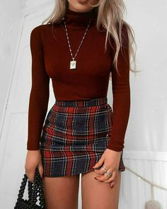 48 Cool Back to School Outfits Ideas for the Flawless Look cute casual outfits - Casual Outfit Teen Fashion Outfits, Mode Outfits, Look Fashion, Fashion Clothes, Fashion Women, Fashion Ideas, Skirt Fashion, Fashion Belts, Autumn Fashion