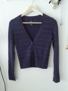 American Eagle Purple Cardigan Size XS $10