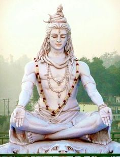 """Shiva is known as """"The Destroyer"""" within the Trimurti, the Hindu trinity that includes Brahma and Vishnu Shiva Meditation, Lord Shiva Statue, Rudra Shiva, Mahakal Shiva, Shiva Art, Krishna Art, Shiva Photos, Lord Shiva Hd Images, Hanuman Images"""