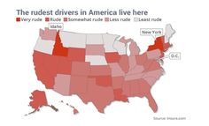 Which states have the rudest drivers?