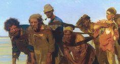 BEHIND NWG: Barge Haulers On The Volga (1870-1873) - Ilia Efimovich Repin (1844-1930) Russian Painting, Russian Art, Figure Painting, Painting & Drawing, Ilya Repin, American Gothic, Best Portraits, Kandinsky, Drawing People