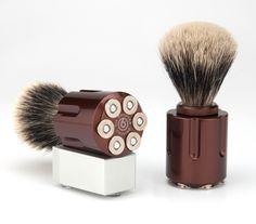 Six Shooter Shaving - Marshal Shave Brush (stand sold separately) , $149.00 (http://www.sixshootershaving.com/marshal-shave-brush/)
