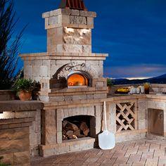 61 ideas backyard fireplace and grill outdoor pizza ovens Outdoor Grill Island, Brick Oven Outdoor, Patio Grill, Pizza Oven Outdoor, Backyard Seating, Backyard Patio, Backyard Landscaping, Backyard Ideas, Wedding Backyard