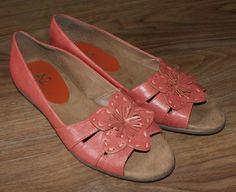 A2 by Aerosoles pink leather slip on open toe shoes womens size 7 #A2byAerosoles #OpenToe #Casual