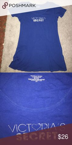 Victoria Secret T-Shirt Dress Nightgown Cotton sleep dress. I am 5'8'' and it goes right past my knees. Very comfy. PINK Victoria's Secret Intimates & Sleepwear Pajamas