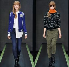 G-Star RAW Amsterdam 2015-2016 Fall Autumn Winter Womens Runway Catwalk Looks - Vintage Grunge Destroyed Patched Denim Jeans Military Utility Cargo Pockets Overshirt Super Skinny Boyfriend Boots Quilted Puffer Blouse Outerwear Coat Parka Baseball Varsity Jacket Onesie Jumpsuit Boiler Suit Salopette Coveralls Bib Brace Dungarees Moto Motorcycle Biker Leather Racer Knee Panels Grunge Asymmetrical Slouchy