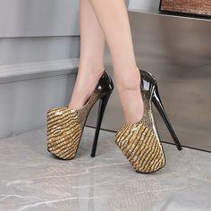 Stiletto Heels, High Heels, Sky High, Women's Pumps, Night Club, Platform, Shallow, Beautiful, Shoes